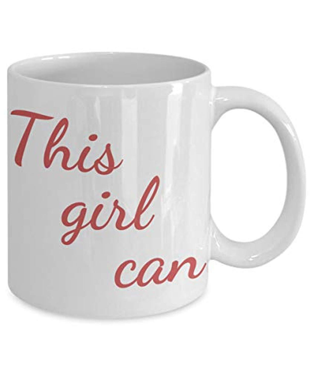 This Girl Can Motivational Inspiring Ceramic Coffee Mug