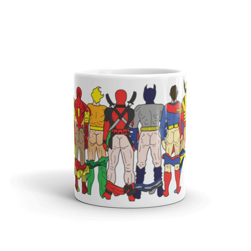 super hero butts ceramic mug