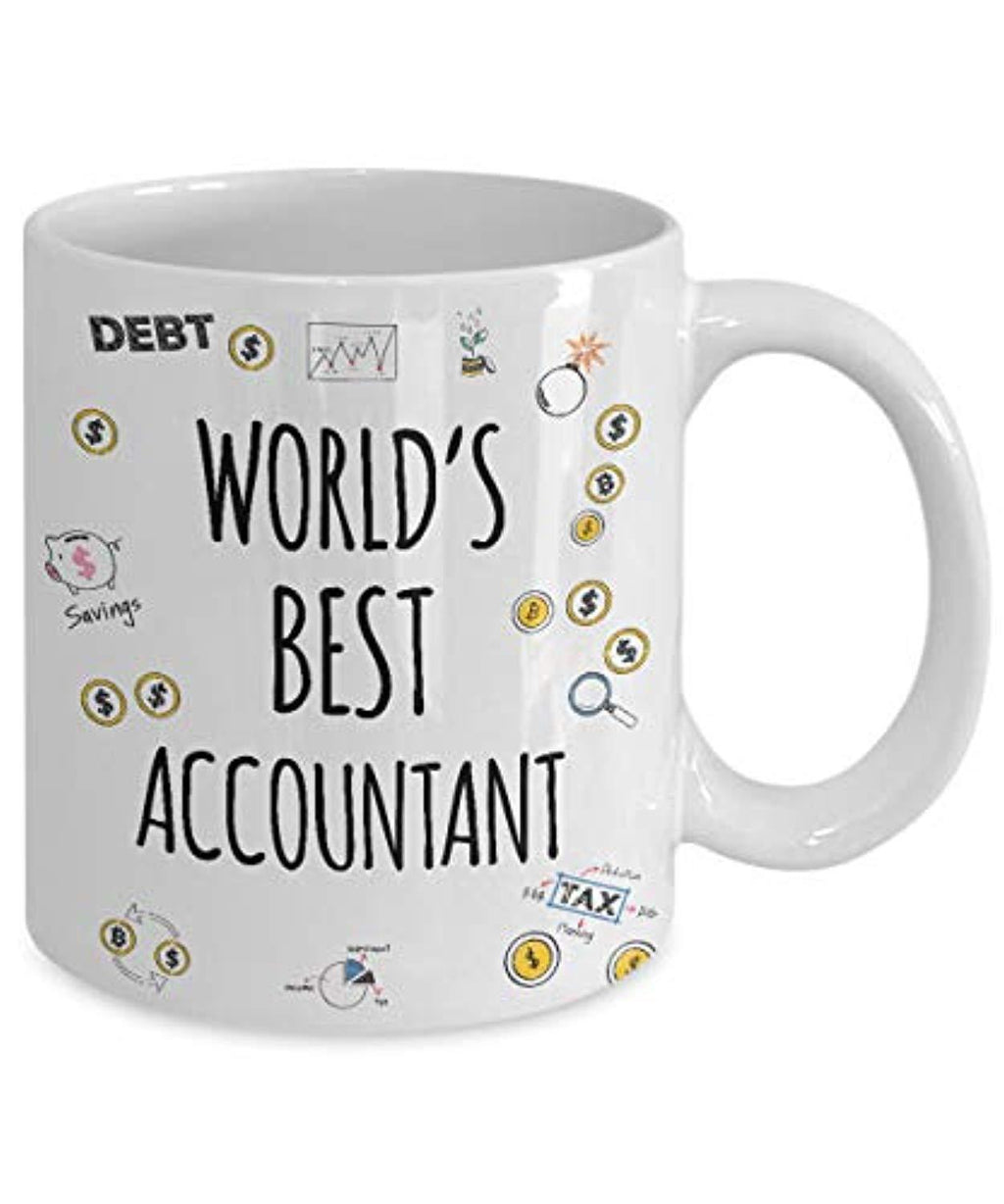 World's Best Accountant Coffee Mug CPA Tax Season Cup