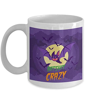 Batshit Crazy Mug Hilarious Bat Shit Coffee Cup (11 oz)