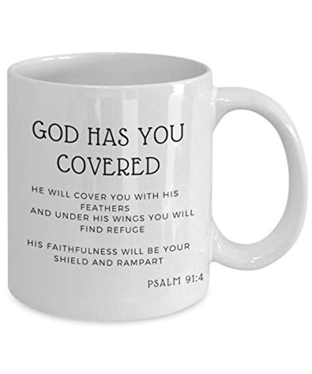 God Has You Covered, He Will Cover You With his Feathers Mug