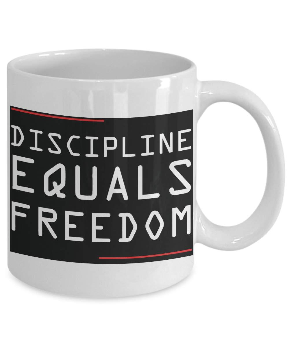Discipline Equals Freedom Mug