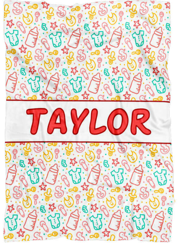 Custom Name Blankets for Baby, Son or Daughter