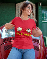 red boo bees shirt women