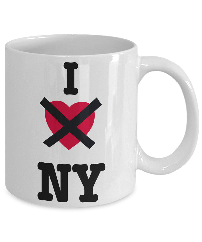 I hate NY coffee mug