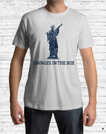 savages in the box premium shirt gray model
