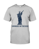 savages in the box unisex shirt  gray