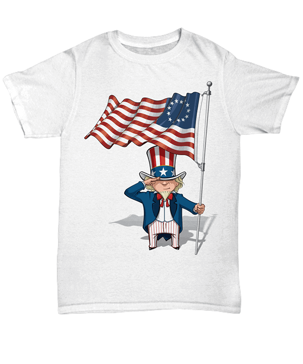 Betsy Ross Flag Shirt unisex white