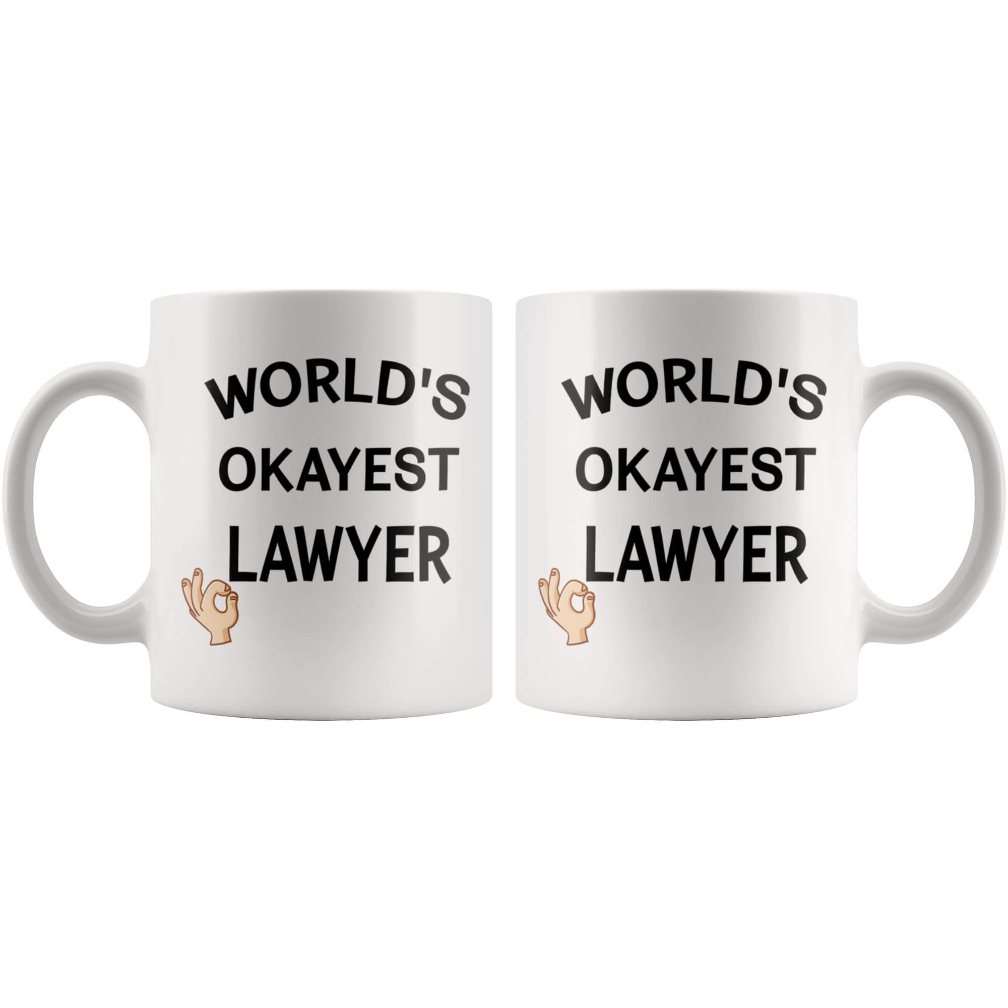 worlds okayest lawyer ceramic mug