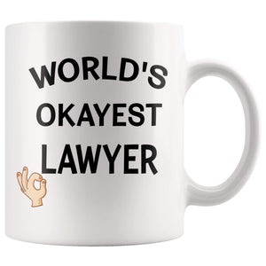 worlds okayest lawyer mug