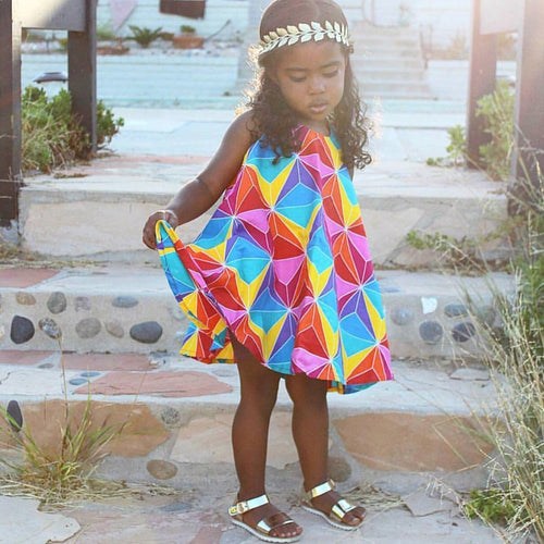 Bapribap: Spin Dress in Rainbow