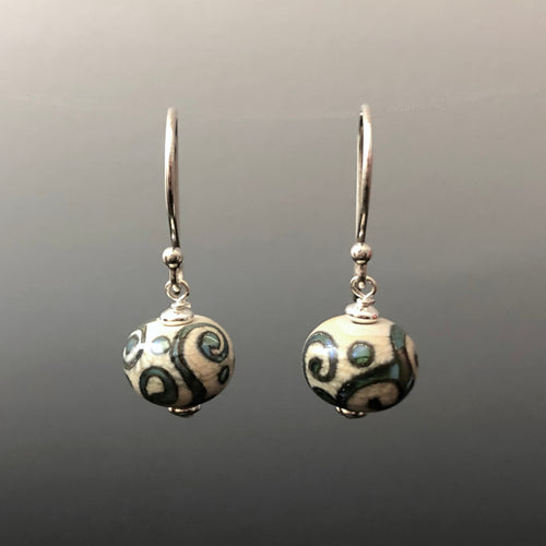 Ancient Swirls Earrings (Ear Wires) by Becky Congdon
