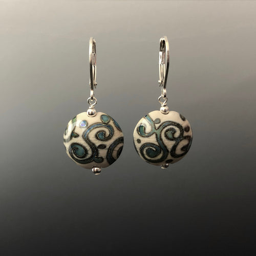 Ancient Swirls Earrings (Leverbacks) by Becky Congdon