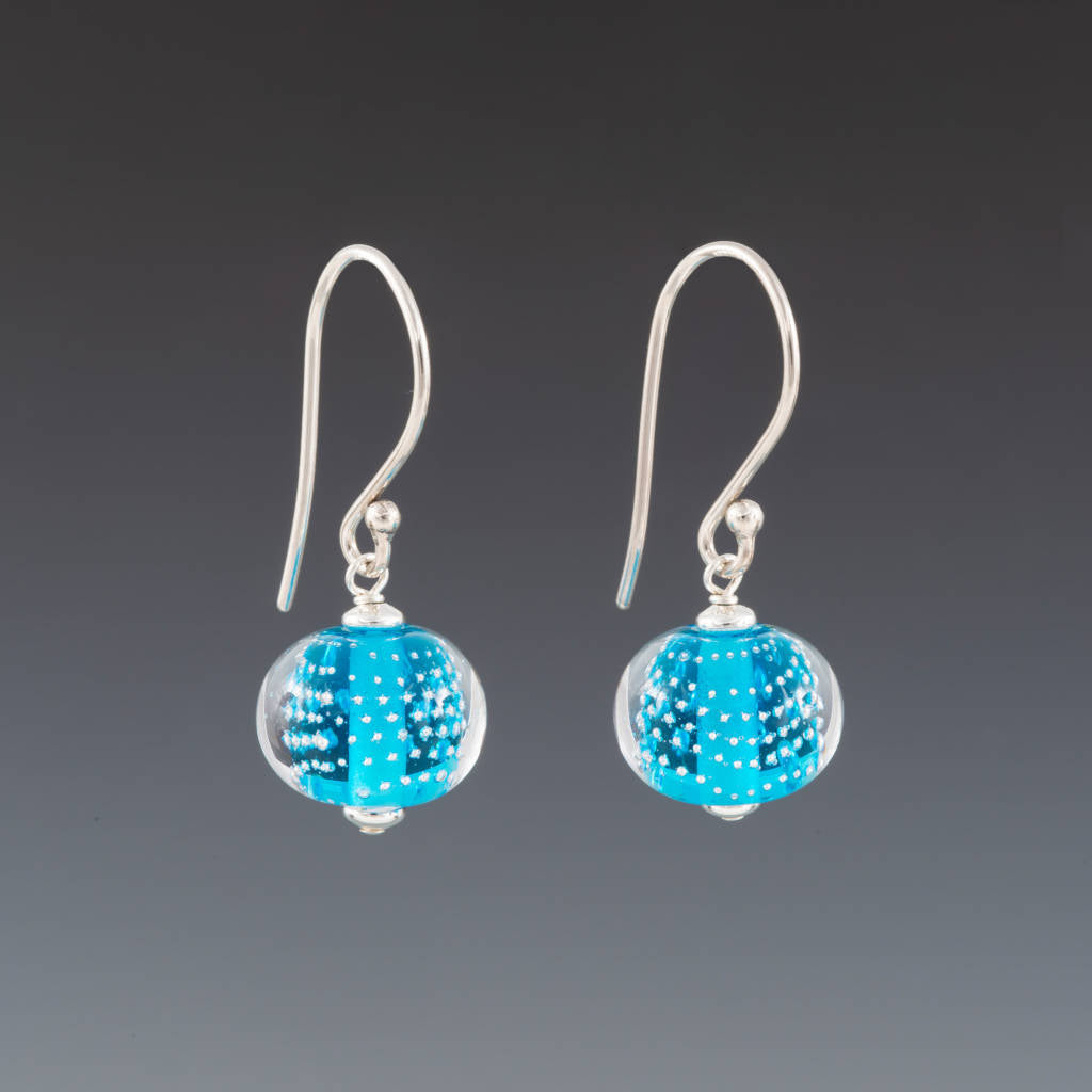 Aquamarine Sparkling Earrings (Ear Wires) by Becky Congdon