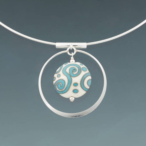 Aztec Dreaming Circle Omega Necklace by Becky Congdon