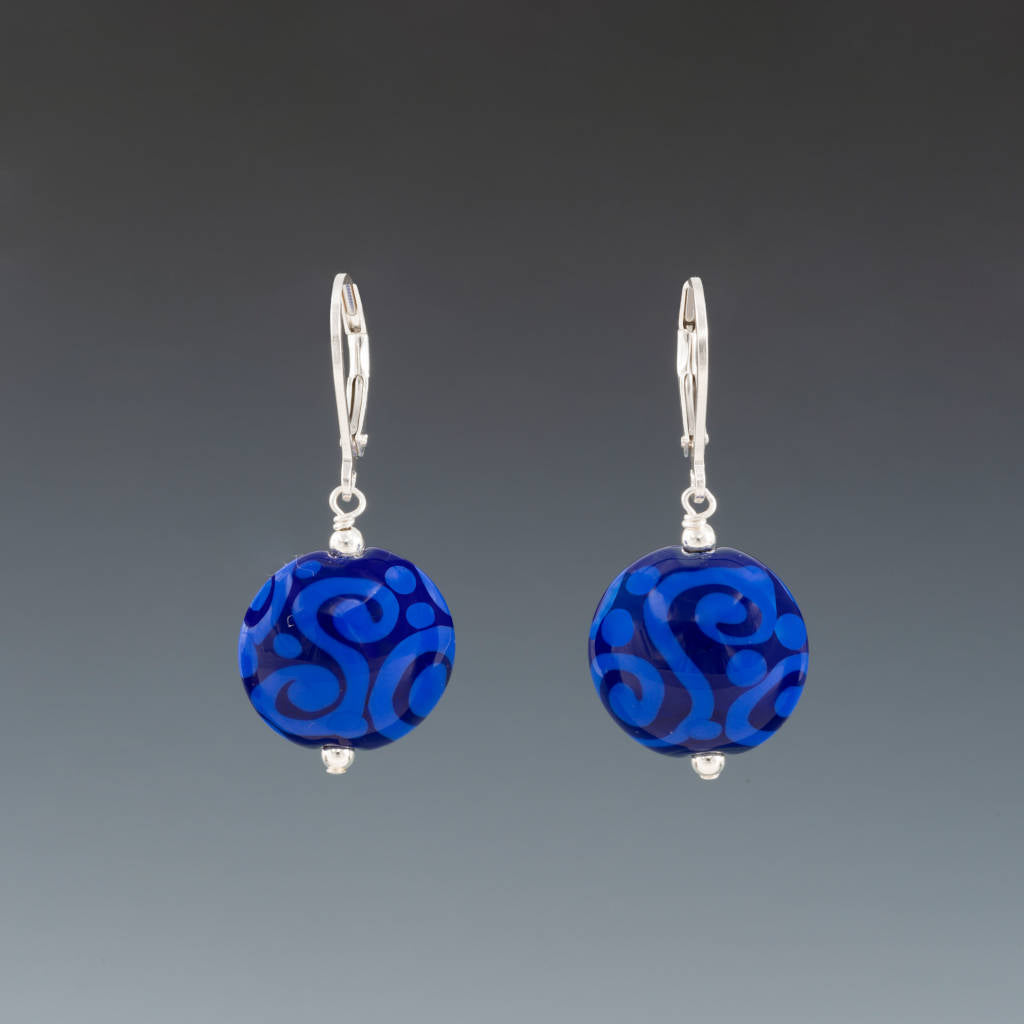 Bali Blues Earrings (Leverbacks) by Becky Congdon