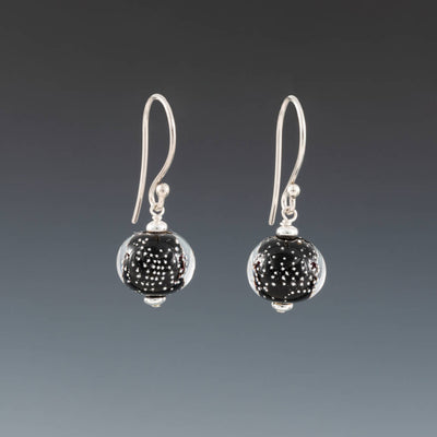 Black Sparkling Earrings (Ear Wires) by Becky Congdon