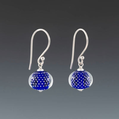 Cobalt Blue Sparkling Earrings (Ear Wires) by Becky Congdon