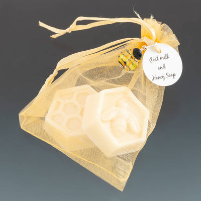 Goats Milk and Honey Soap with Bee Pendant by Becky Congdon