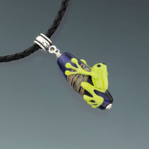 Hold On 'Til Friday Frog Necklace by Becky Congdon