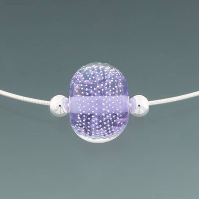 Lavender Sparkling Omega Necklace by Becky Congdon