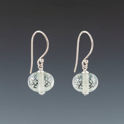 Light Gray Sparkling Earrings (Ear Wires) by Becky Congdon