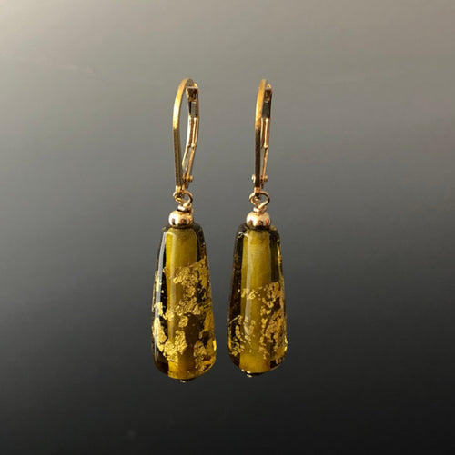 Maple Gold Drop Earrings (Leverbacks) by Becky Congdon