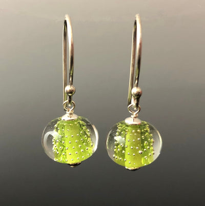 Peridot Sparkling Earrings (Ear Wires) by Becky Congdon