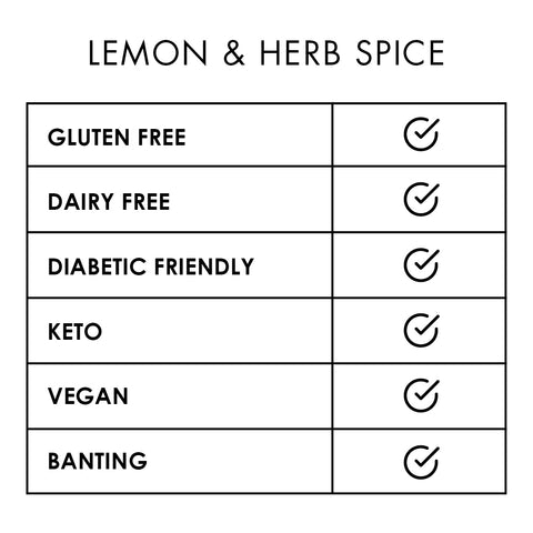 Spice Lemon & Herb 180g