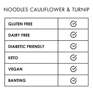 Noodles Cauliflower & Turnip