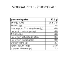 Load image into Gallery viewer, Nougat Bites Chocolate (12 bites per box)