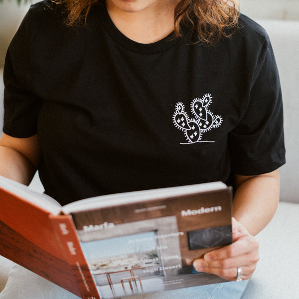Embroidered Cactus T-Shirt  | Aimless Roots | Travel-Inspired Apparel | Gifts for Travelers