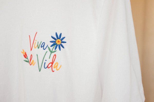 Viva la Vida Embroidered T-Shirt  | Aimless Roots | Travel-Inspired Apparel | Gifts for Travelers