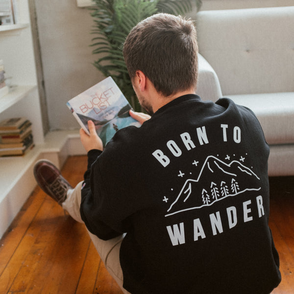 Born to Wander Champion Sweatshirt  | Aimless Roots | Travel-Inspired Apparel | Gifts for Travelers