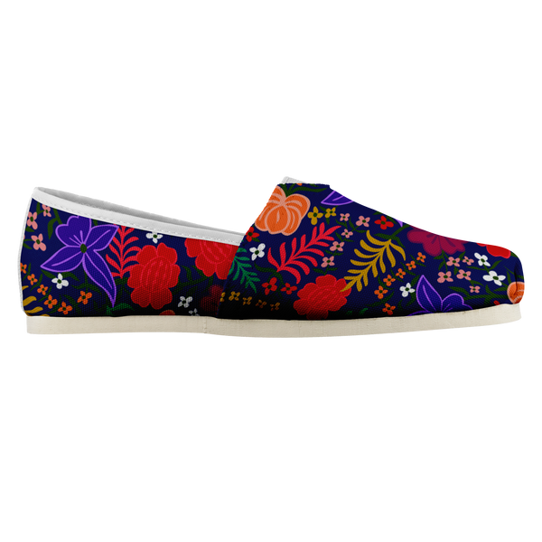 Las Flores - Floral Canvas Women's Shoes Shoes | Aimless Roots | Travel-Inspired Apparel | Gifts for Travelers