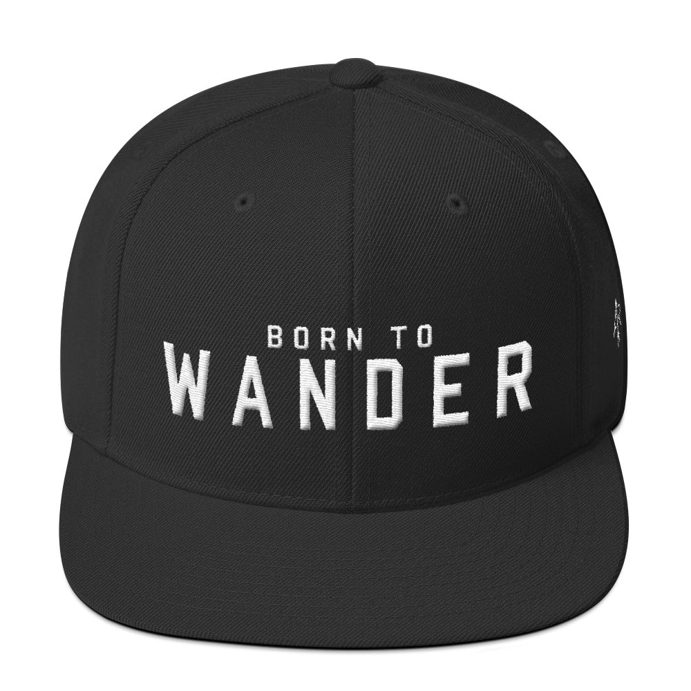 Born to Wander Snapback Hat  | Aimless Roots | Travel-Inspired Apparel | Gifts for Travelers