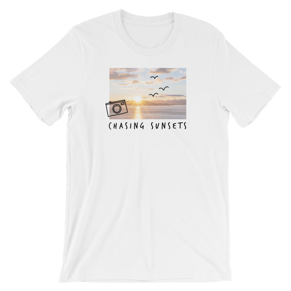 Chasing Sunsets T-Shirt  | Aimless Roots | Travel-Inspired Apparel | Gifts for Travelers