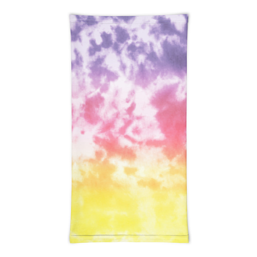 Sunset Tie Dye Print Neck gaiter