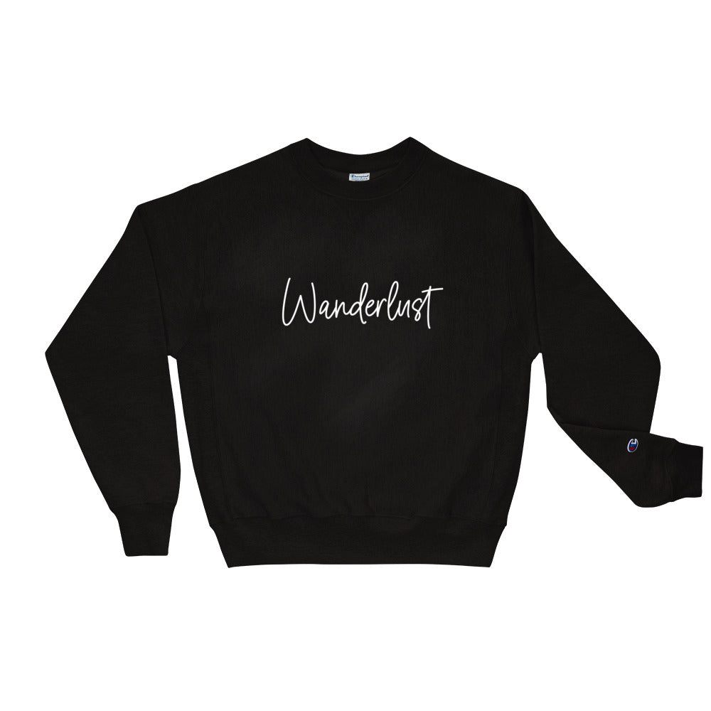 Wanderlust Champion Sweatshirt  | Aimless Roots | Travel-Inspired Apparel | Gifts for Travelers