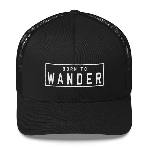 Born to Wander Trucker Cap  | Aimless Roots | Travel-Inspired Apparel | Gifts for Travelers