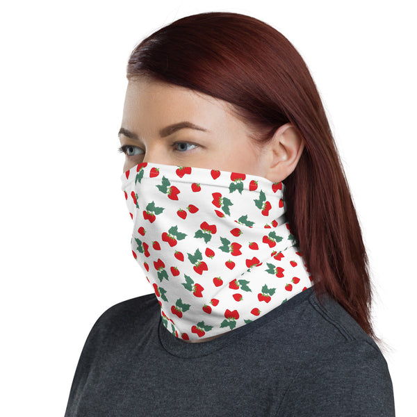 Strawberry Toss Print Neck Gaiter