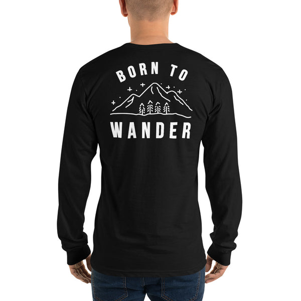 Born to Wander Long Sleeve T-Shirt  | Aimless Roots | Travel-Inspired Apparel | Gifts for Travelers