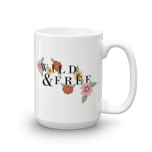 Wild & Free Mug  | Aimless Roots | Travel-Inspired Apparel | Gifts for Travelers