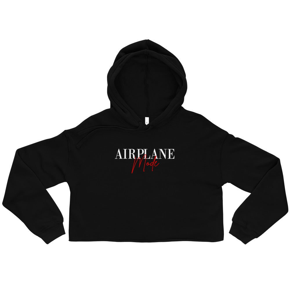Airplane Mode Crop Hoodie  | Aimless Roots | Travel-Inspired Apparel | Gifts for Travelers