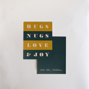 Greeting Card - Hugs & Nugs