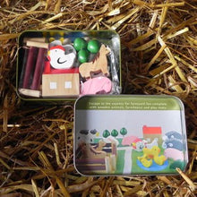 Farm in a Tin gifts kids toys girls boys fun outdoor wooden animals