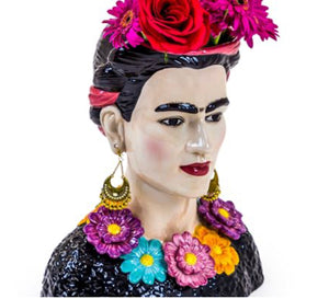 frida kahlo ceramic vase