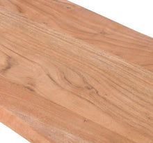 Live Edge Natural Wood Dining Bench TOP VIEW