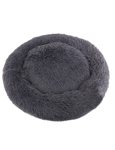 Calming Faux Fur Pet Bed | Dark Grey