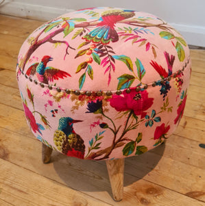 Bird of Paradise Pink Footstool